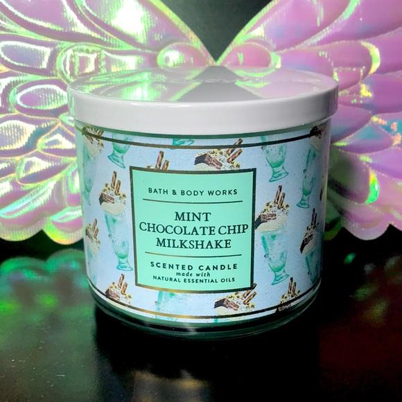 BBW 3 wick candle Mint Chocolate Chip Milkshake